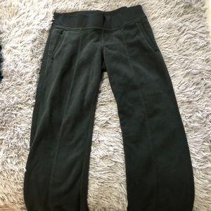 Black fleece sweat pants